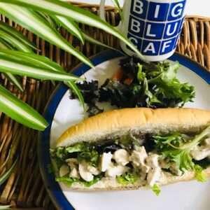 Chicken Caesar & mixed leaf salad torpedo