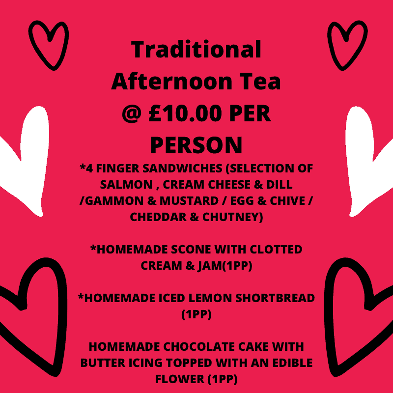 Valentines Day Traditional afternoon tea